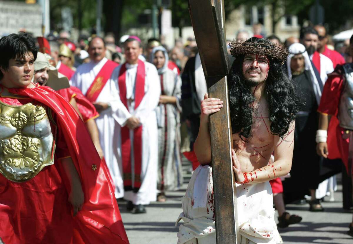 San Antonio's Passion of the Christ procession will return this week for Good Friday after being canceled last year, but Catholics will not gather en masse to commemorate the crucifixion.