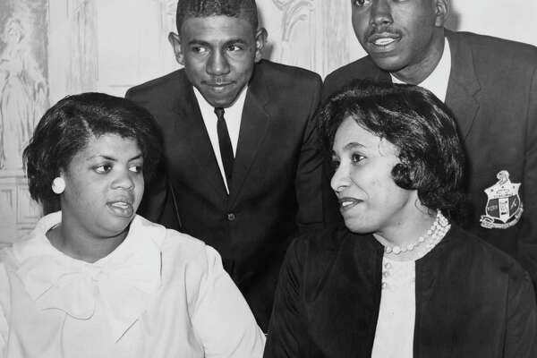 Linda Brown, left, was at the center of the 1950s court battle that led to the desegregation of U.S. schools. She died last week. Her case was the famous Brown vs. the Board of Education.