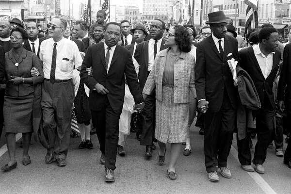 Dr. Martin Luther King Jr. arrives in Montgomery, Alabama on March 25th 1965 at the culmination of the Selma to Montgomery March. Pictured from left, Ralph Bunche, Dr. Martin Luther King, Jr., Coretta Scott King, Rev. Fred Shuttlesworth, Hosea Williams. Decades later, an internship at the Martin Luther King Jr. Center for Nonviolent Social Change in Atlanta would change Cary Clack's life.