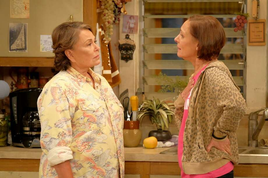 "Roseanne (Roseanne Barr), left, and Jackie (Laurie Metcalf) find themselves at odds in the ""Roseanne"" reboot, which premiered Tuesday night to massive ratings. Adam Rose, ABC Photo: Adam Rose / ABC / ABC"