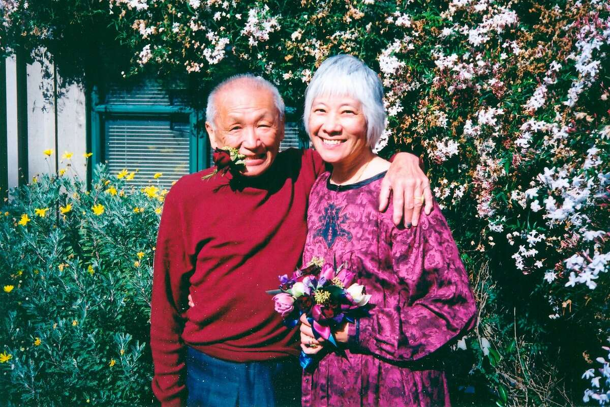 Judy Yung, with her husband Eddie Fung, on their wedding day in 2003.