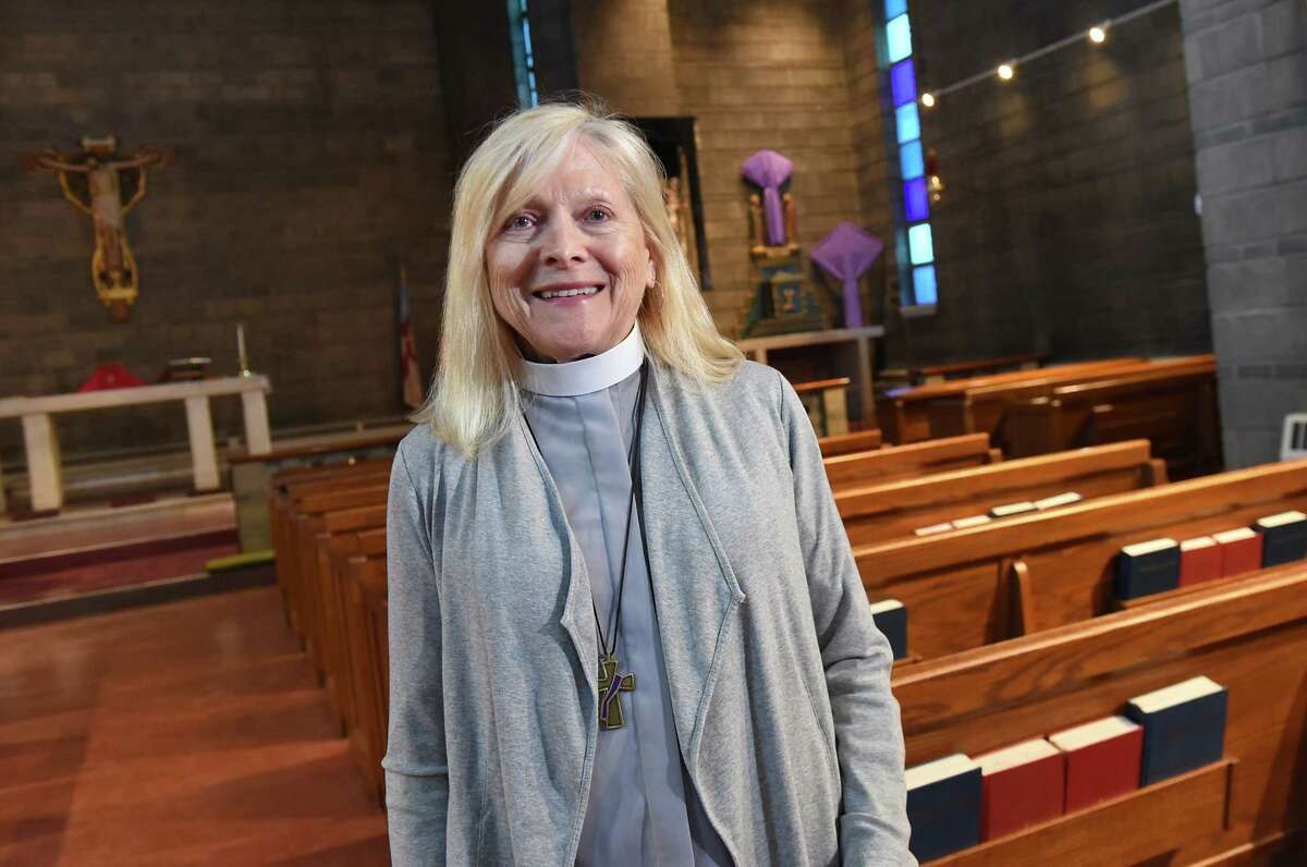 Deacon Sandra McGowan stands in the St. Francis Mission sanctuary on Thursday, March 29, 2018 in Albany, N.Y. (Lori Van Buren/Times Union)