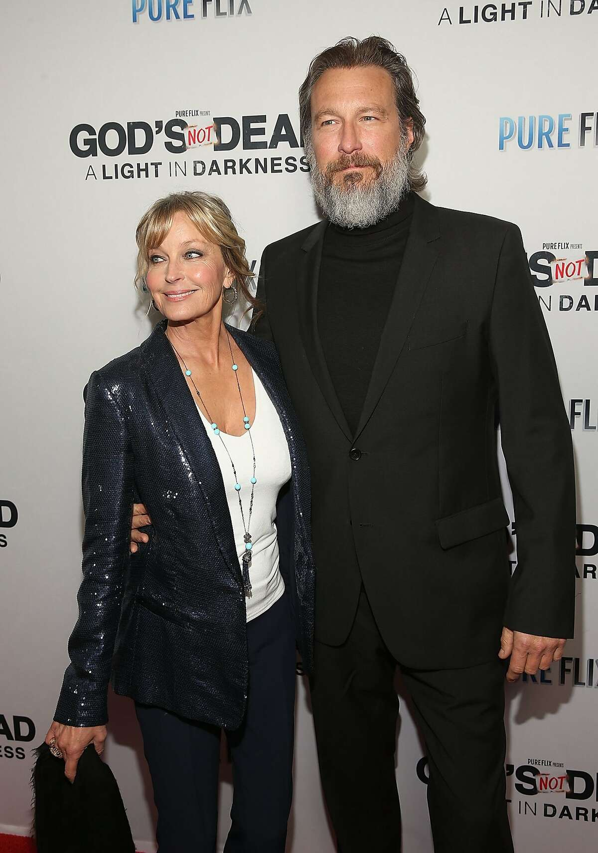 Derek has dated her partner, actor John Corbett, for 17 years. (Photo by Jesse Grant/Getty Images for Pure Flix Entertainment )