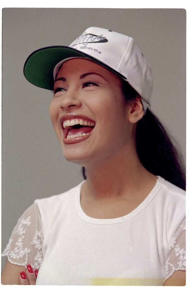 Tejano singer Selena backstage before her performance at Six Flags AstroWorld's Southern Star Amphitheater, July 31, 1994. Photo: File Photo /Houston Chronicle / Houston Chronicle