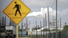 Shell Deer Park refinery is one of the plants that reported major pollution releases during and after Hurricane Harvey. (Elizabeth Conley / Houston Chronicle )