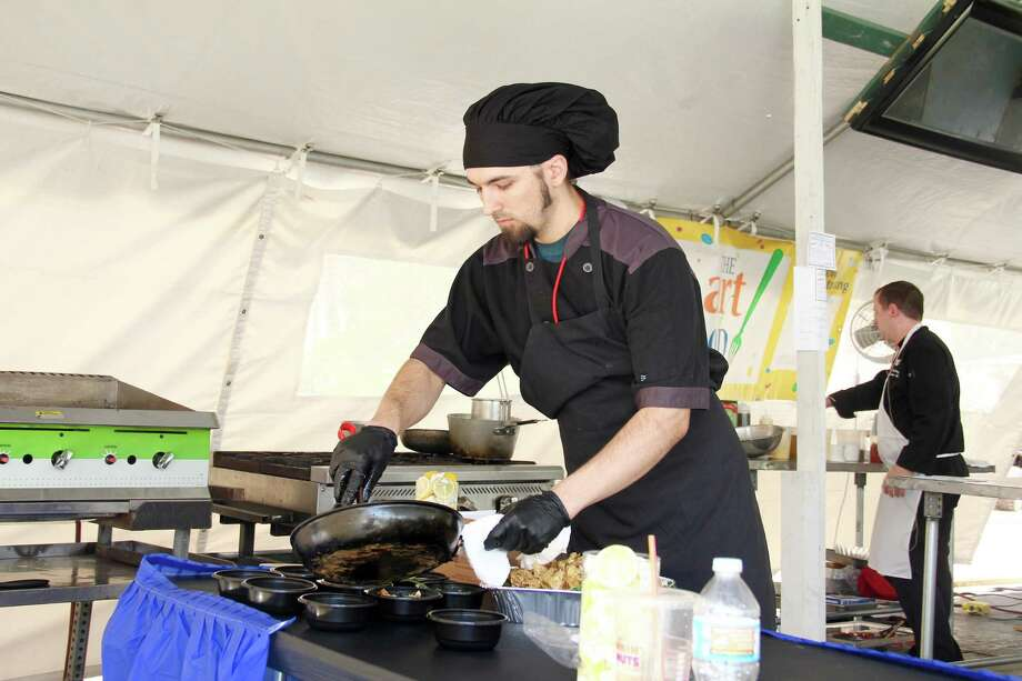 The Woodlands Waterway Arts Festival, set for April 7 and 8, is a feast for foodies at the        popular Art of Food tent. Top local chefs will demonstrate their        culinary skills and craft mouth-watering samples for guests to try. Photo: Courtesy Photo