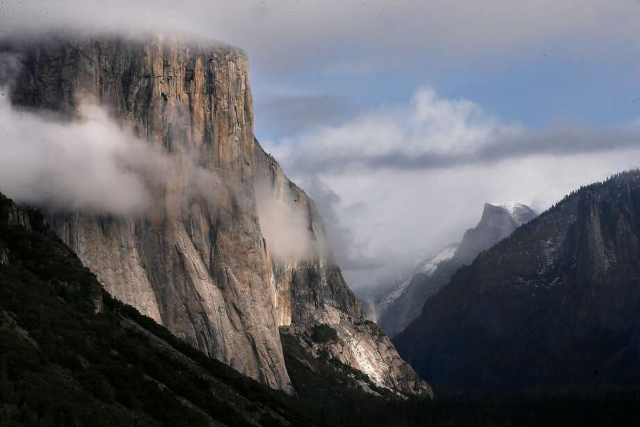 The scene from Tunnel View in Yosemite National Park in January. The park's new superintendent faces challenges including overcrowding, complaints of hostile work conditions — particularly for women — and wilderness protection amid the mounting threats of climate change. Photo: Michael Macor / The Chronicle