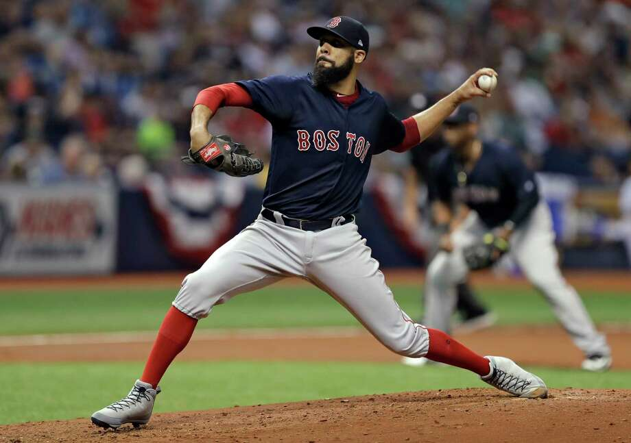 Boston Red Sox starting pitcher David Price delivers to the Tampa Bay Rays during the fourth inning of a baseball game Friday, March 30, 2018, in St. Petersburg, Fla. (AP Photo/Chris O'Meara) Photo: Chris O'Meara / Copyright 2018 The Associated Press. All rights reserved.