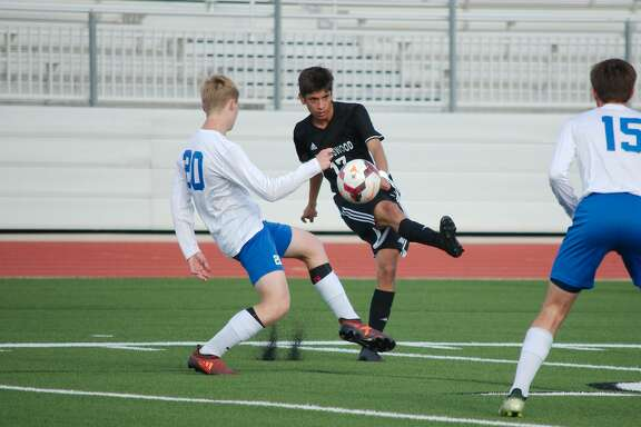 HS boys soccer Friendswood versus Brazoswood at CCISD Challenger Columbia Stadium