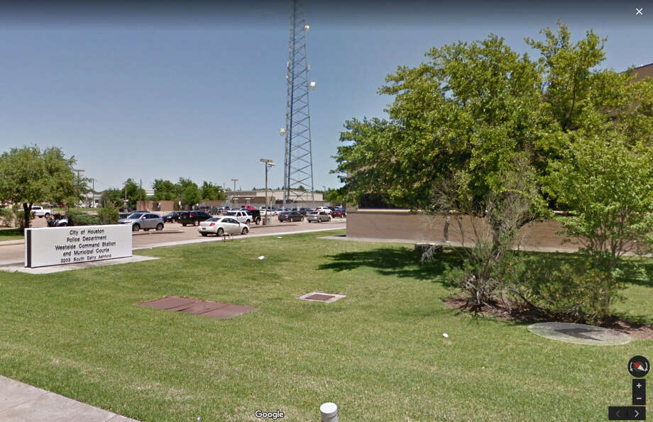 A suspect who led police on a slow-speed chase through west Houston wound up crashing through a police station Friday night.via Google Maps Photo: Google Maps