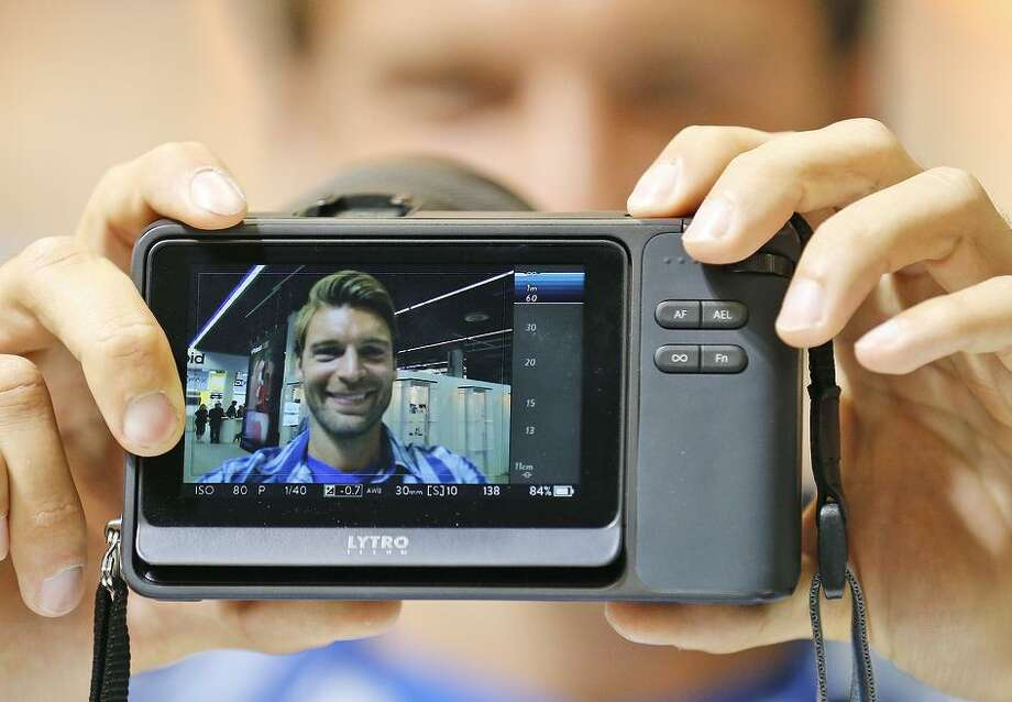 The Lytro Illum camera too 3-D pictures. The company, which is shutting down, later turned to making VR photos rigs. Photo: Frank Augstein / Associated Press 2014 / AP