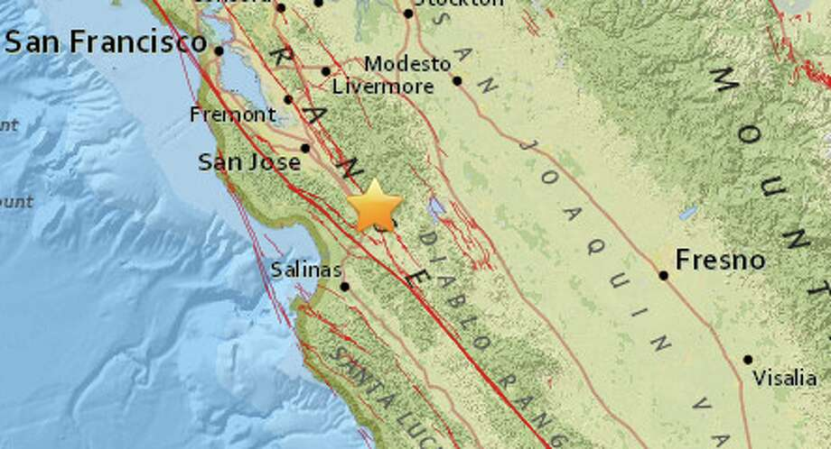 A small earthquake was reported near Gilroy early Saturday morning.