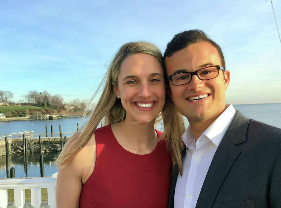 State Rep. Caroline Simmons, D-Stamford and state Sen. Art Linares, R-Westbrook, who will wed in October, plan to keep separate residences in their far-flung districts for the time being. Photo: Contributed Photo / Contributed Photo / Connecticut Post Contributed