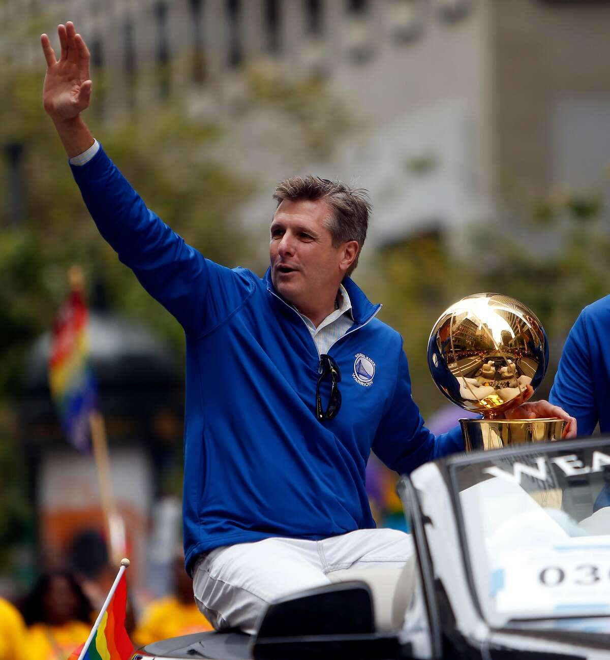 """Warriors President Rick Welts """"You can never envision five straight Finals and a new arena,"""""""