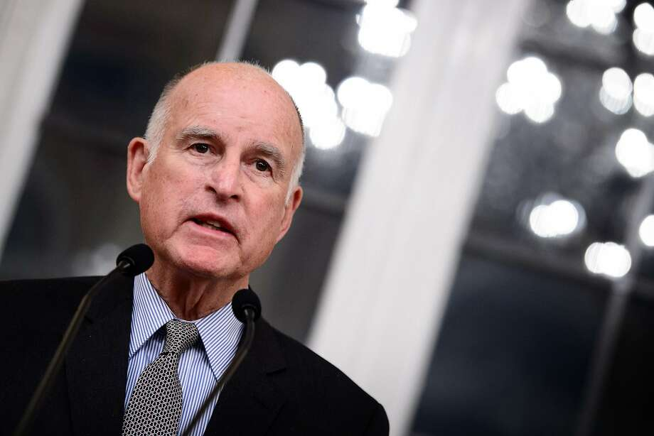 Gov. Jerry Brown had a tough call with the president's National Guard request. Photo: Sina Schuldt / Abaca Press 2017