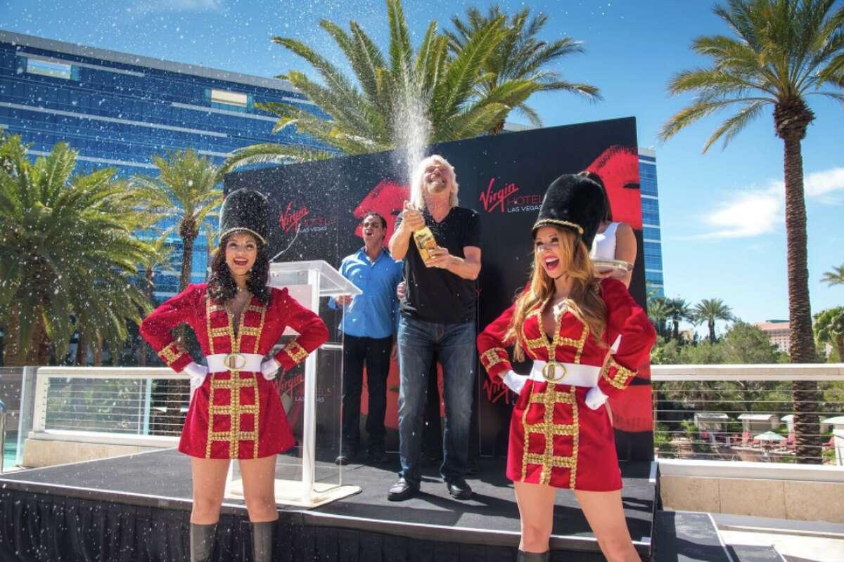 Celebrating Virgin's purchase of the Hard Rock Hotel in Las Vegas