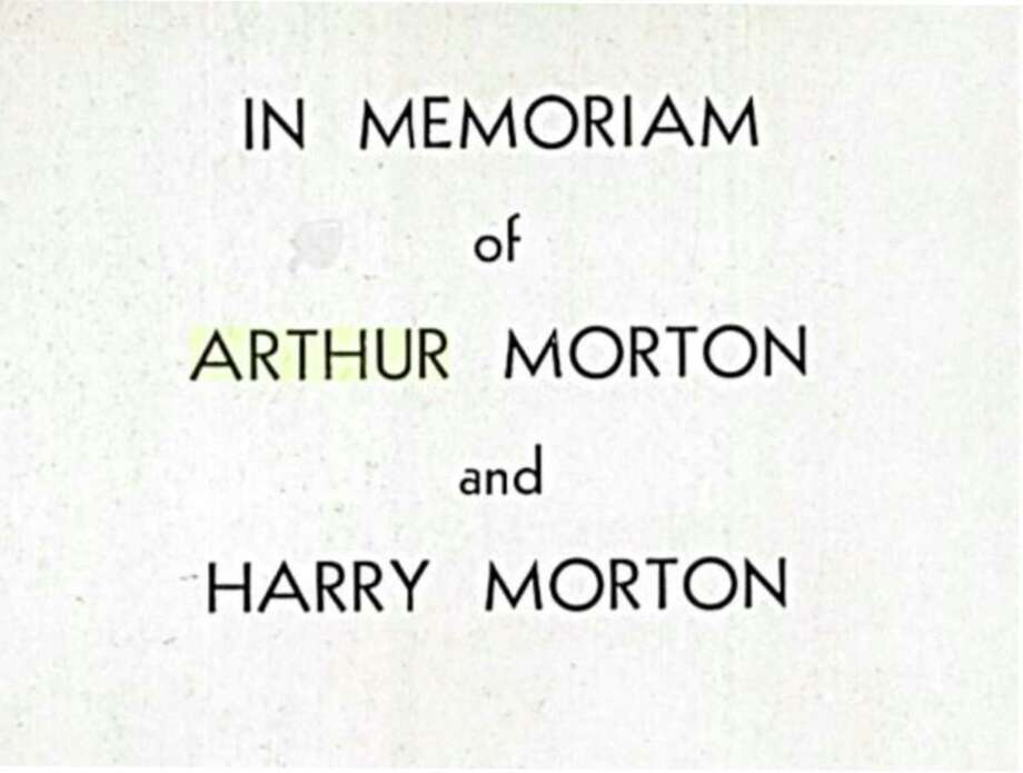 "This page is in the 1933 Jefferson High School yearbook, the Monticello, offering an ""In Memoriam"" for Arthur Morton and Harry Morton, brothers who were killed the previous year under mysterious circumstances. Photo: Courtesey /"