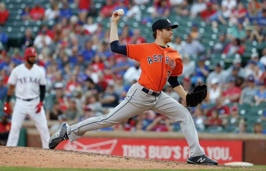 PHOTOS: 2019 Astros game-by-game  Houston Astros pitcher Collin McHugh (31) pitches in the eighth inning of an MLB baseball game at Globe Life Park, Saturday, March 31, 2018, in Arlington.  >>>See how the Astros have fared in each game this season ...  Photo: Karen Warren, Houston Chronicle / © 2018 Houston Chronicle