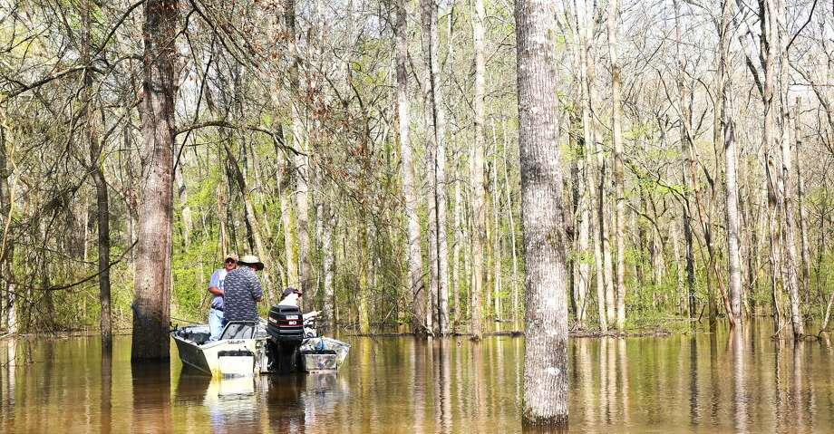 Texas boating anglers are allowed to fish in water covering private property flooded by, and accessed via, a public waterway. That is not the case in Louisiana, where large chunks of waters, including parts of open-water bays, are being claimed as private property and public access prohibited.>>The biggest fish caught in Texas Photo: Shannon Tompkins/Houston Chronicle