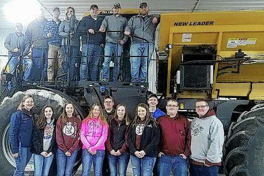 FFA students from A-C Central schools stop for a photograph at Helena in Meredosia. Photo: Photo Provided