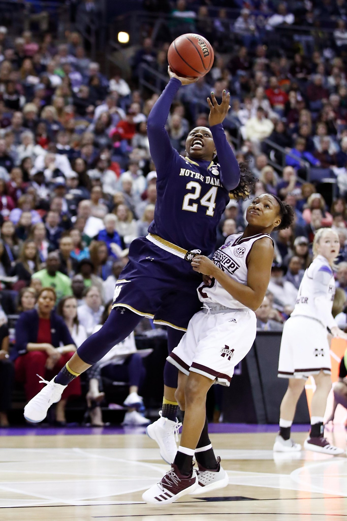 b7cebe176230 Arike Ogunbowale s second big shot of Final Four lifts Notre Dame to title