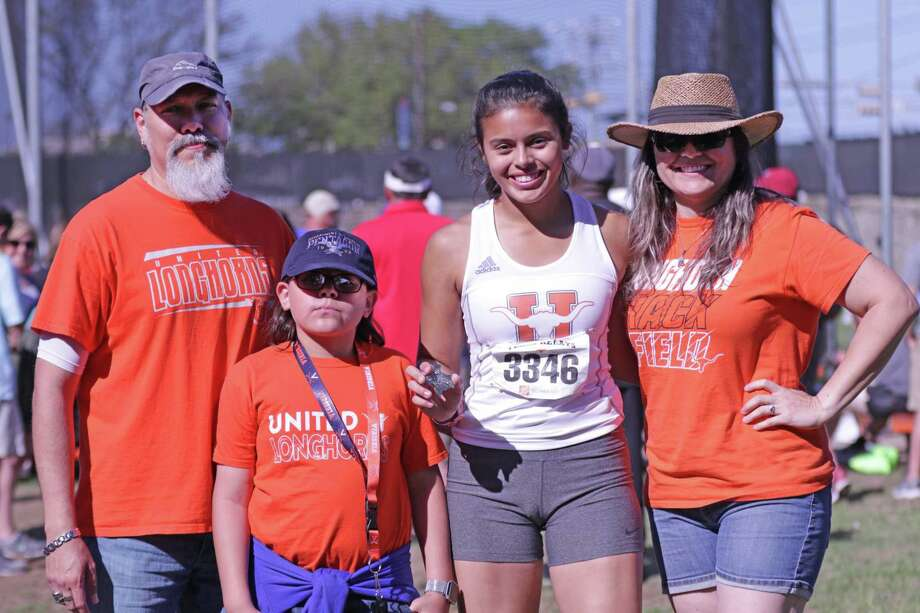 United's Sadey Rodriguez, who holds the city record in discus, has verbally committed to the University of Virginia. Photo: Clara Sandoval /Laredo Morning Times