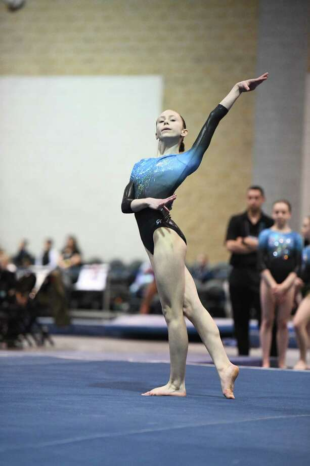 Ava Dallas, a freshman from Saratoga, is the 2018 Times Union Athlete of the Year for the sport of gymnastics. Photo: Eugene Dallas
