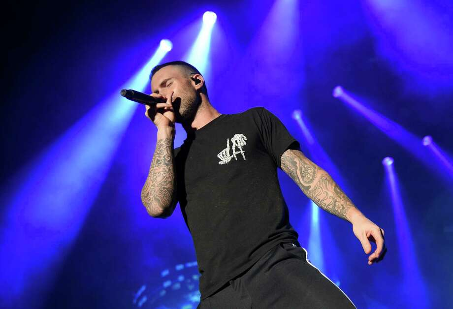 Adam Levine of Maroon 5 performs during the Capital One JamFest onstage at the NCAA March Madness Music Festival at Hemisfair on Sunday. Photo: Michael Loccisano, Getty Images For Turner / 2018 Getty Images