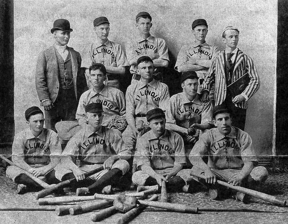 Illinois College's 1890 baseball team. Records show that IC played its first intercollegiate baseball game in 1878 against Shurtleff College at Alton. Earlier, IC students played baseball against Jacksonville teams.