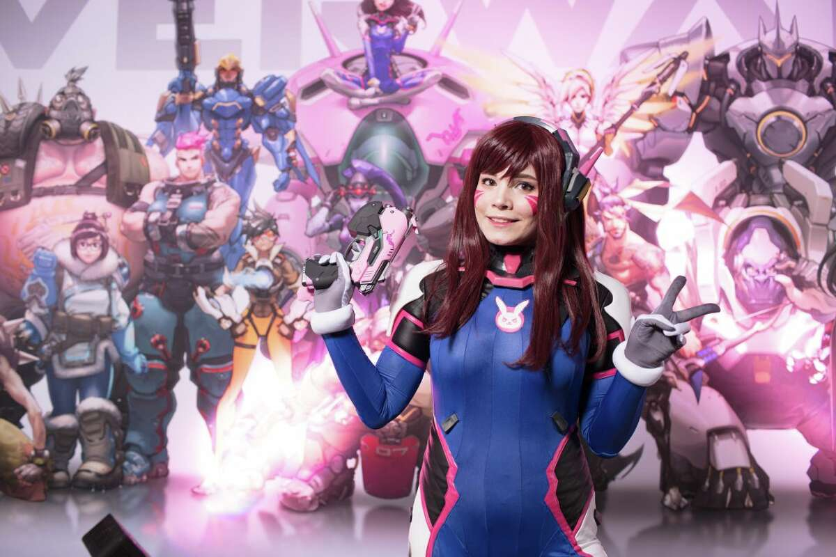Fans gather at Houston's 2018 Anime Matsuri for a Overwatch Party. The Japanese Culture Convention was at Houston's George R. Brown Convention Center from March 30 to April 1, 2018.