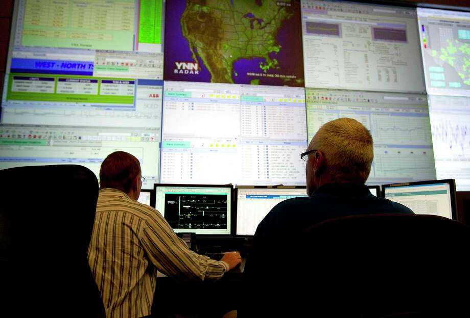 The ERCOT command center in Taylor. Photo: Laura Skelding, Staff Photographer / Austin American-Statesman