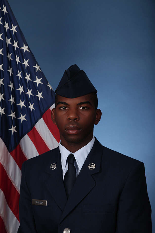 U.S. Air Force Airman Dareiyus D. Richard recently graduated from basic military training at Joint Base San Antonio-Lackland. Richard, a 2017 Kelly High School graduate, is the son of Angela M. Batiste and grandson of Cynthia F. Cargile of Beaumont. Photo: Air Force