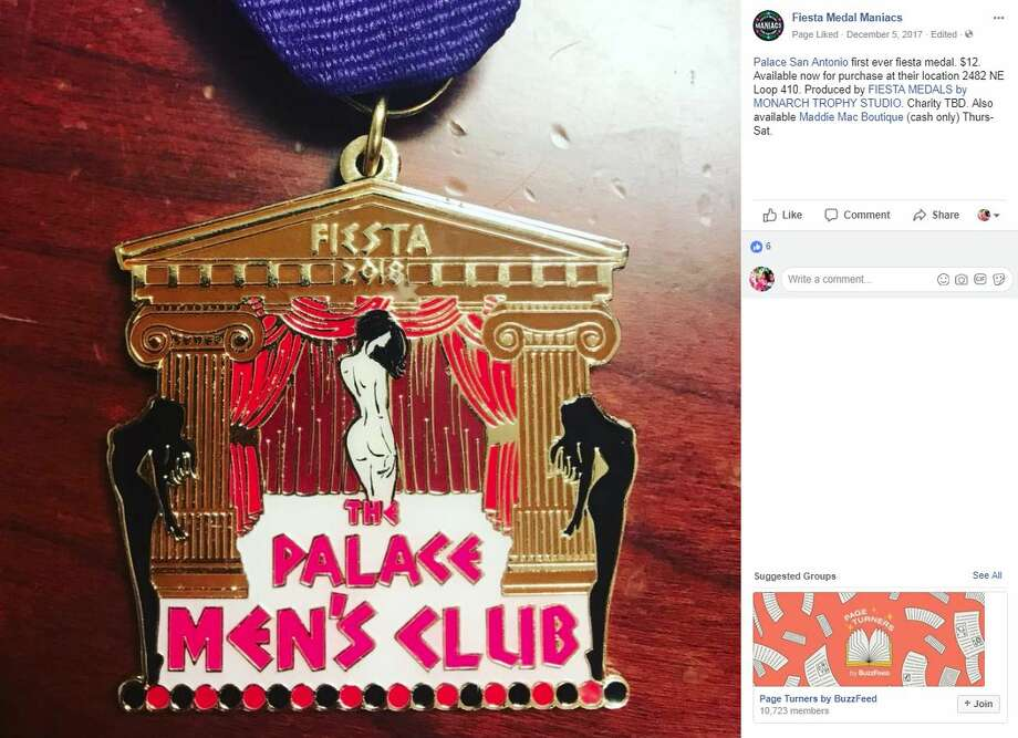 Fiesta Medal Maniacs: Palace San Antonio first ever fiesta medal. $12. Available now for purchase at their location 2482 NE Loop 410. Produced by FIESTA MEDALS by MONARCH TROPHY STUDIO. Charity TBD. Also available Maddie Mac Boutique (cash only) Thurs-Sat. Photo: Fiesta Medal Maniacs/Facebook