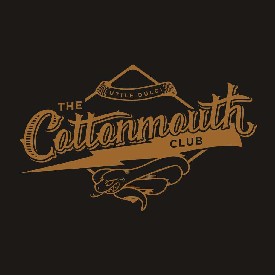 The Cottonmouth Club logo. The bar, at 108 Main, will open April 13.