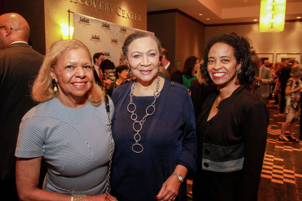 Dr. Yvonne Cormier, from left, Patricia Hogan Williams and Phyllis Griffin Epps at the Teach for America gala dinner.