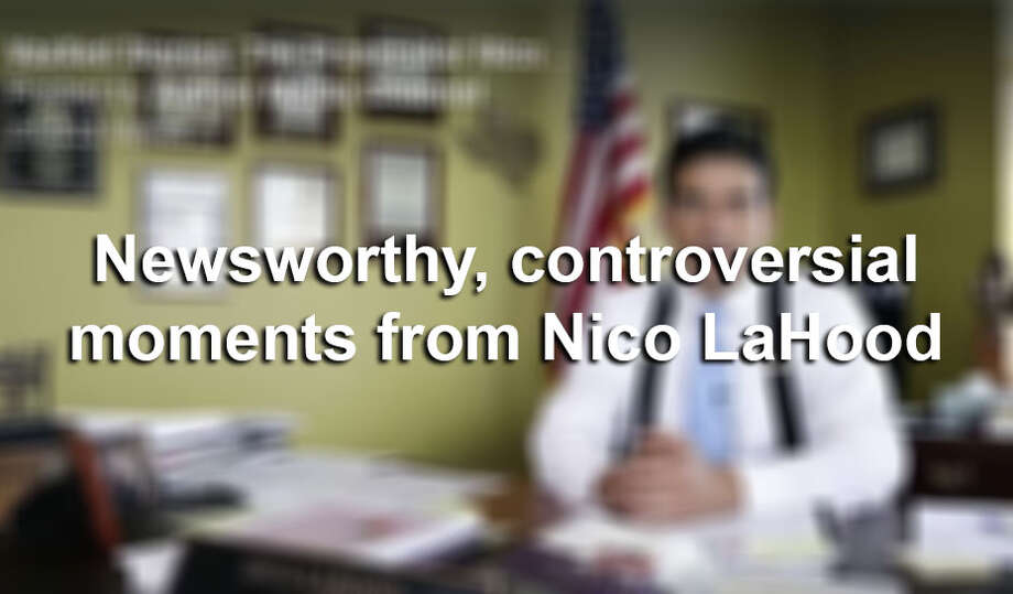 Click ahead to revisit controversial moments from Nico LaHood's time as Bexar County district attorney. Photo: Screengrab
