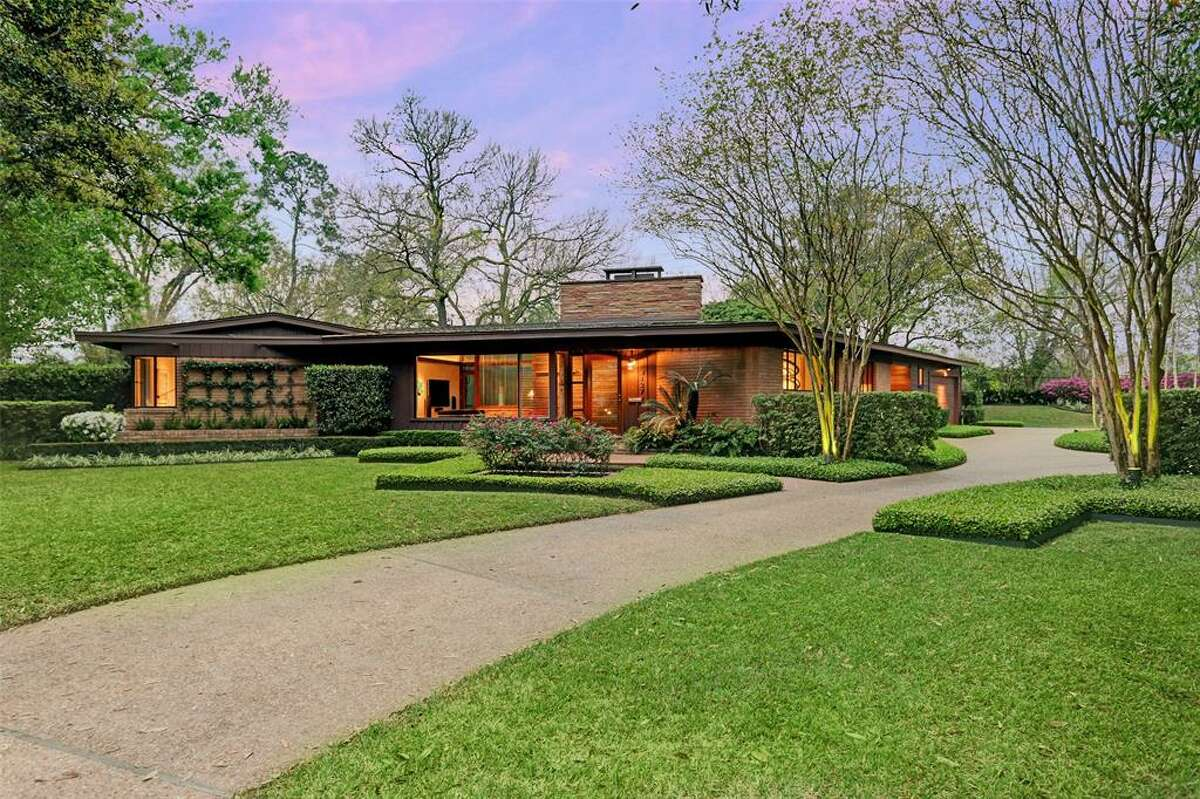 One of renowned architect Lucian Hood's first Houston homes is up for sale in the Braeswood Place area for $1,275,000.