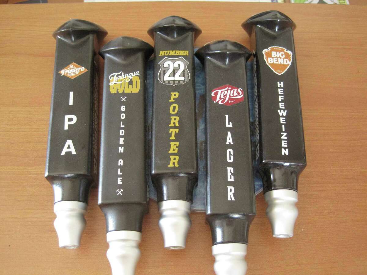 Some of the beers made by the Big Bend Brewing Co. The brewery started in Alpine and is expanding into San Antonio.