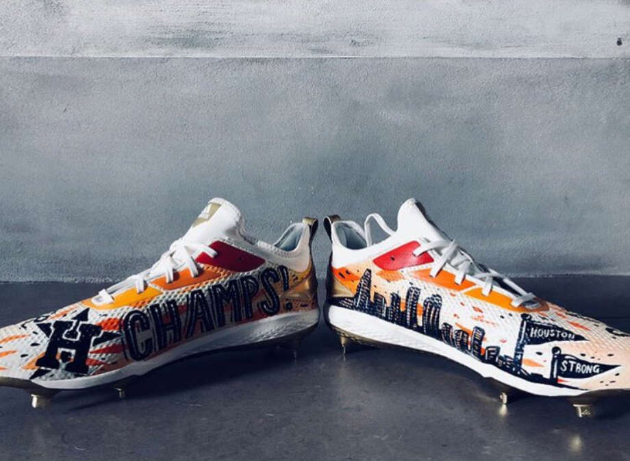 PHOTOS: A look a special cleats Carlos Correa has worn in his career.The cleats Carlos Correa plans to wear for the Astros home opener against the Baltimore Orioles on Monday, April 2, 2018. Photo: Houston Astros