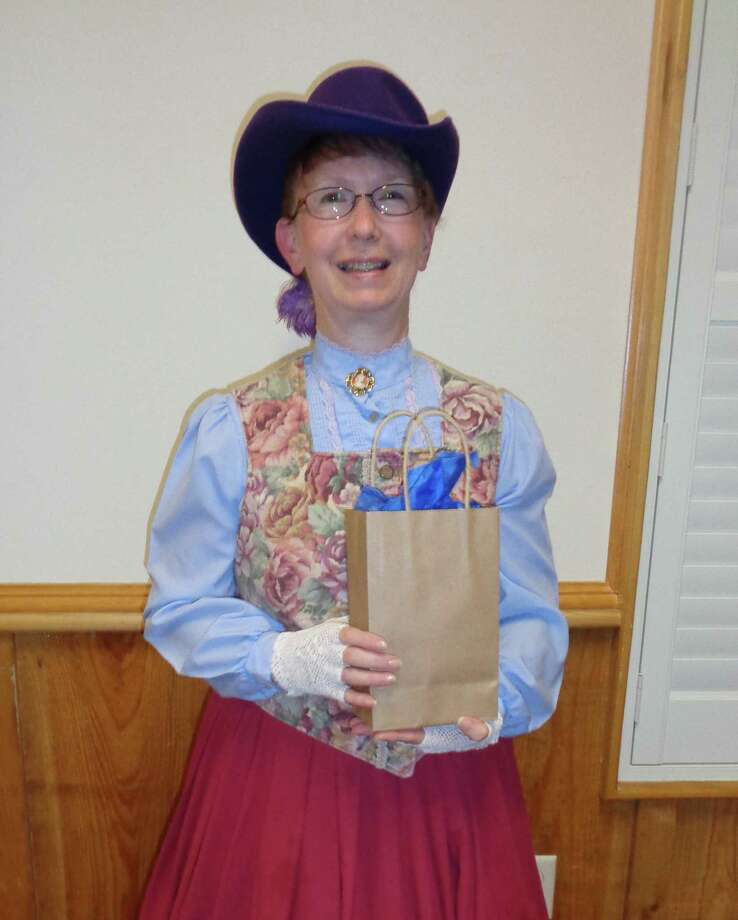 Darlene Mott with the Sam Houston Regional Library in Liberty was the guest speaker at the March meeting of the Dayton Historical Society. Photo: Submitted
