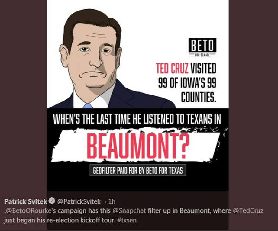 tweets argue ted cruz beto o rourke beaumont visits beaumont