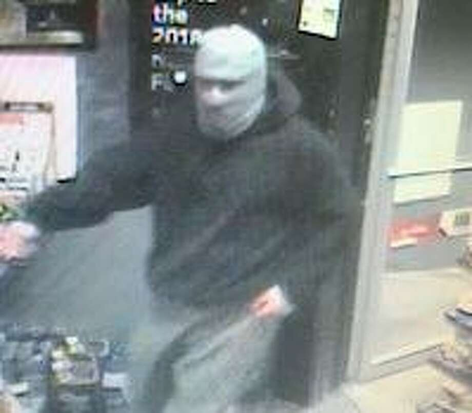 Fairfield police are looking for this man who they said robbed the Mobil Station on Stratfield Road Sunday night. Fairfield,CT. 4/2/18 Photo: Contributed / Contributed Photo / Fairfield Citizen