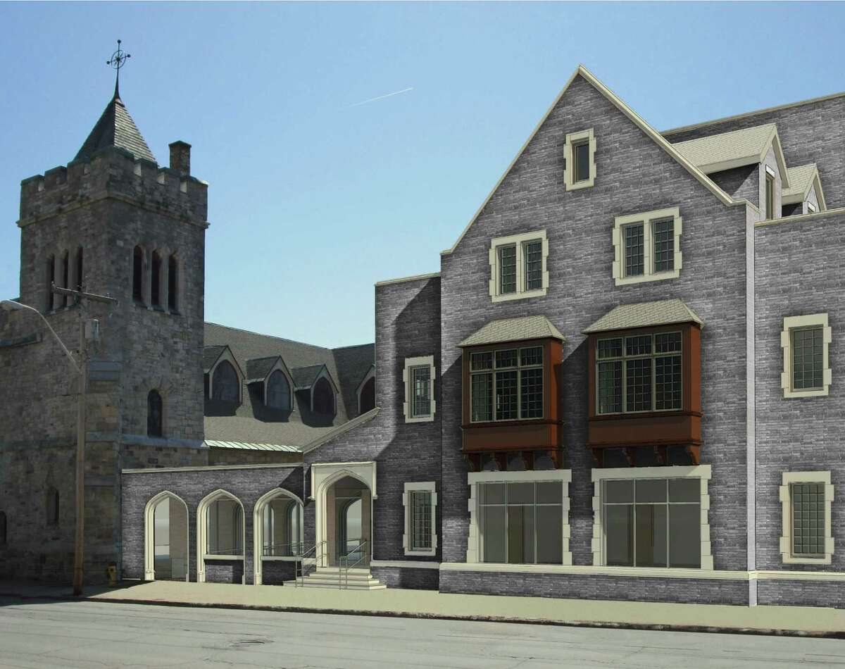 A view of the 30,000 square-foot $3.3 million addition to Bethesda Episcopal Church on Washington Street in Saratoga Springs.