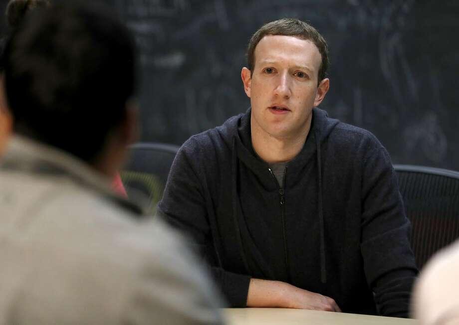 Facebook CEO Mark Zuckerberg Photo: Jeff Roberson, Associated Press