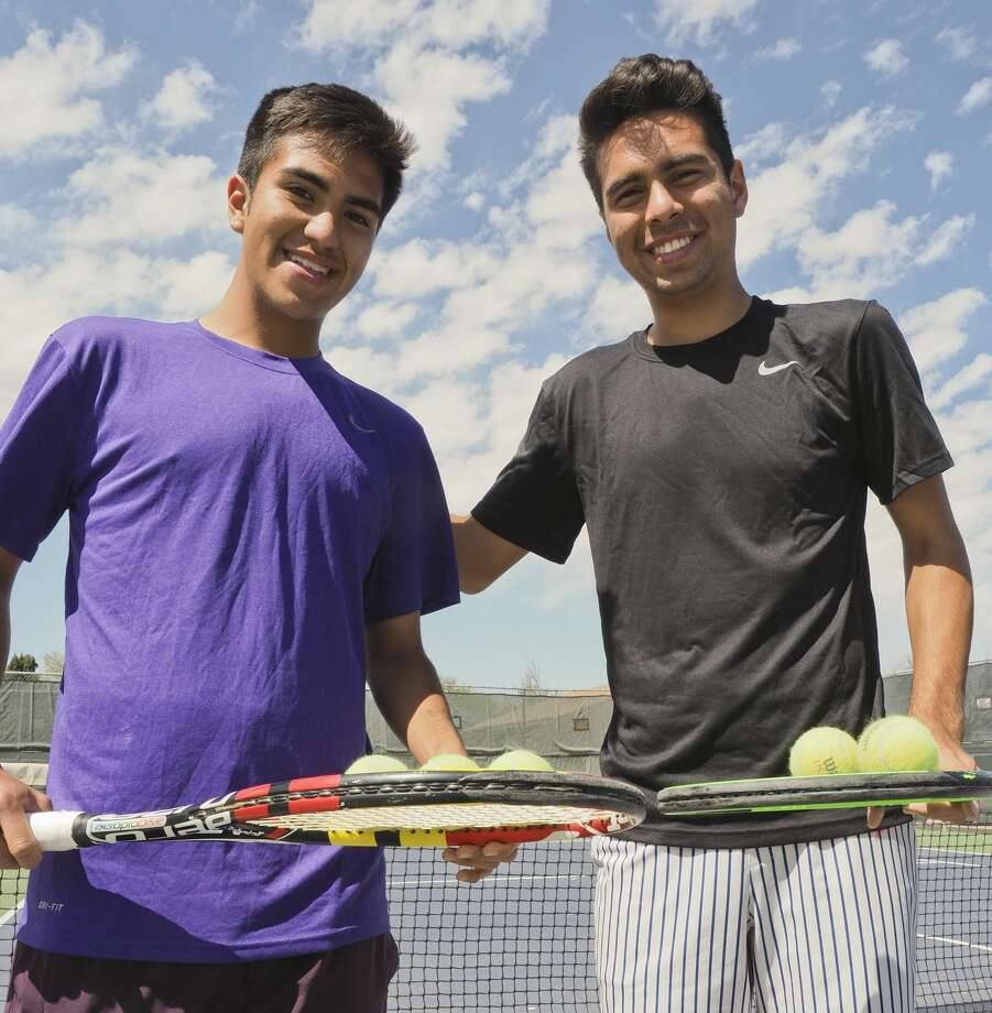 Brothers Nick and Diego Martinez, doubles tennis players for MHS. 04/02/18  Tim Fischer/Reporter-Telegram Photo: Tim Fischer/Midland Reporter-Telegram