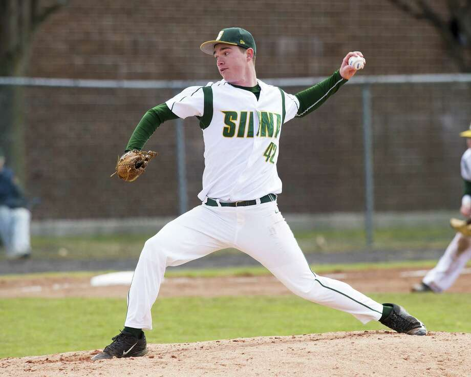 Maple Hill High School graduate Tommy Miller of the Siena baseball team. (Courtesy of Siena Athletics)