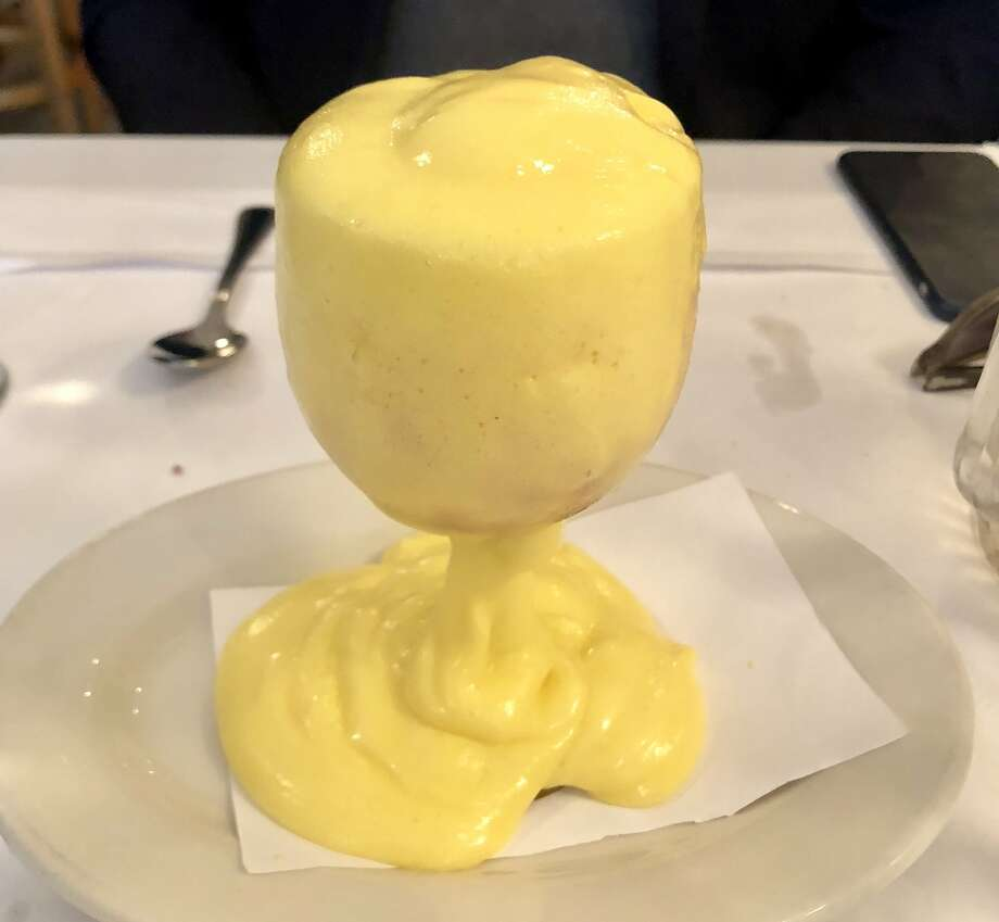The warm zabaglione made with Sherry and egg yolks is a signature dish at Jackson Fillmore. Photo: Michael Bauer / The Chronicle