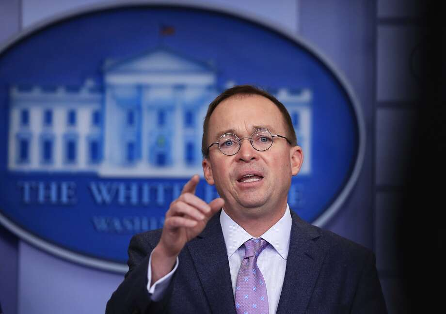 Office of Management and Budget Director Mick Mulvaney talks to reporters in the Brady press briefing room at the White House in Washington, Thursday, March 22, 2018. (AP Photo/Manuel Balce Ceneta) Photo: Manuel Balce Ceneta, Associated Press