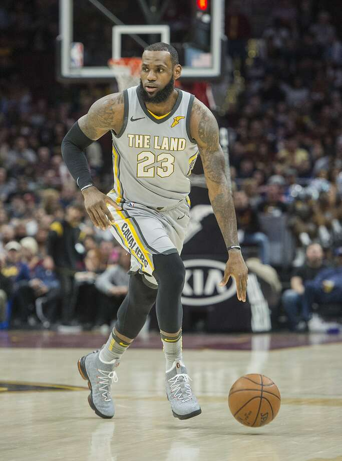 Cleveland Cavaliers' LeBron James (23) plays against the Dallas Mavericks during the first half of an NBA basketball game in Cleveland, Sunday, April 1, 2018. (AP Photo/Phil Long) Photo: Phil Long / Associated Press