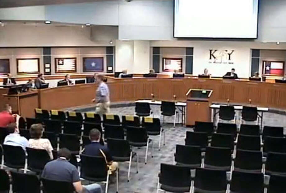 March 19, 2018Greg Barrett, a Katy-area businessman, attends a school board meeting at Katy ISD and decides to speak publicly.  Photo: A Better Legacy